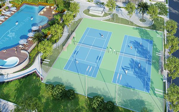 Chung cư có sân tennis